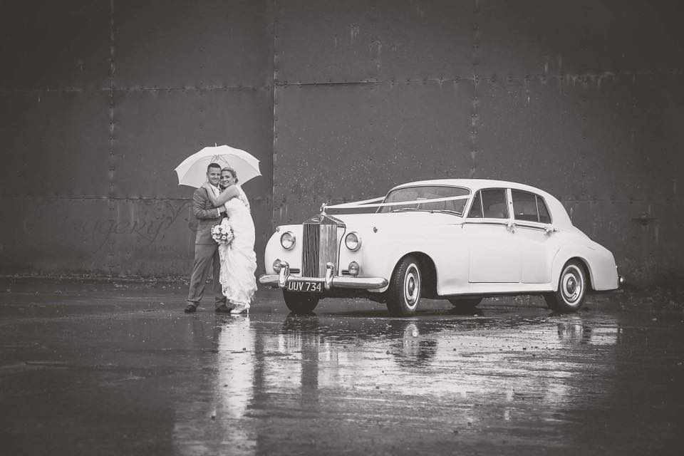 Mr & Mrs Clark With Our Rolls Royce Cloud