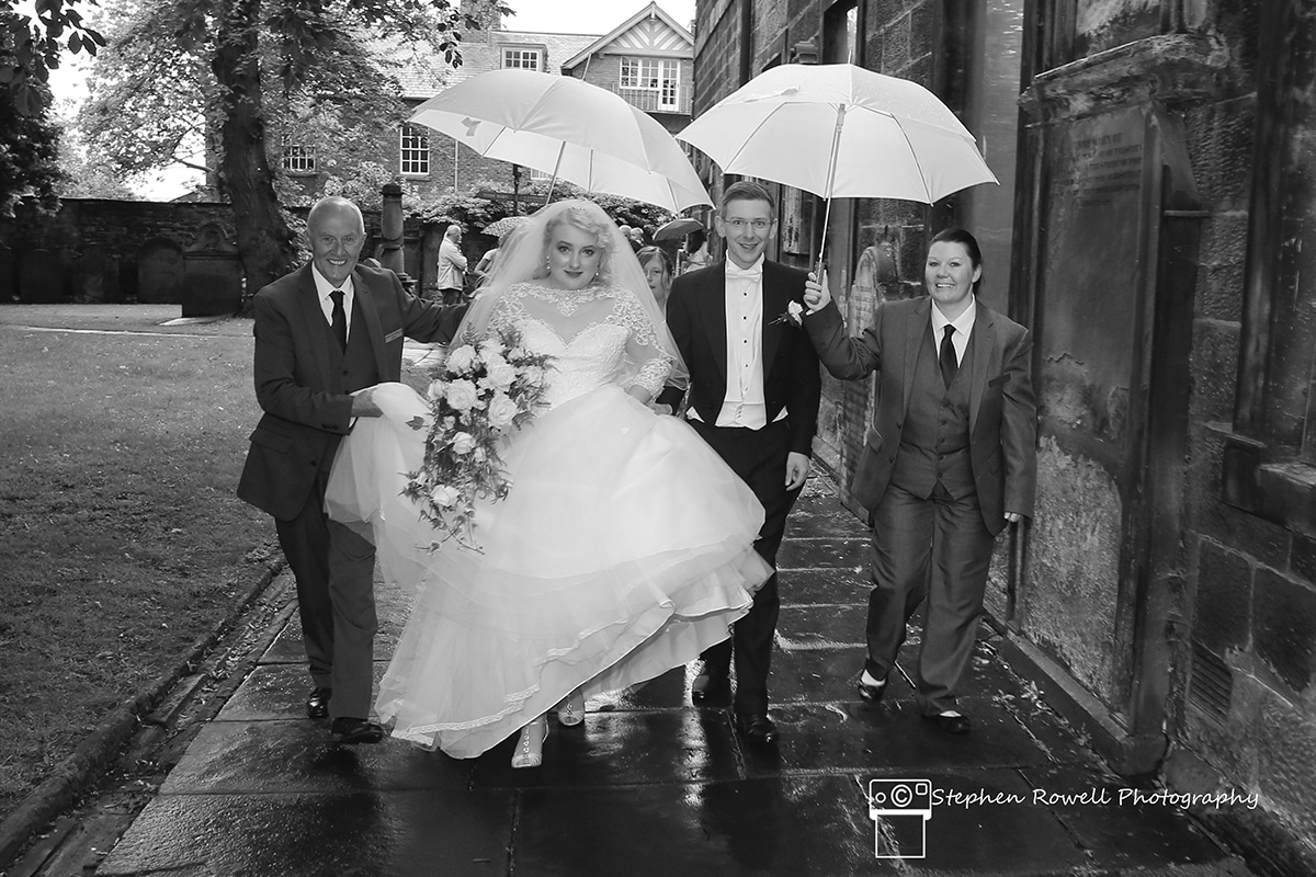 Keeping Our Bride & Groom Dry