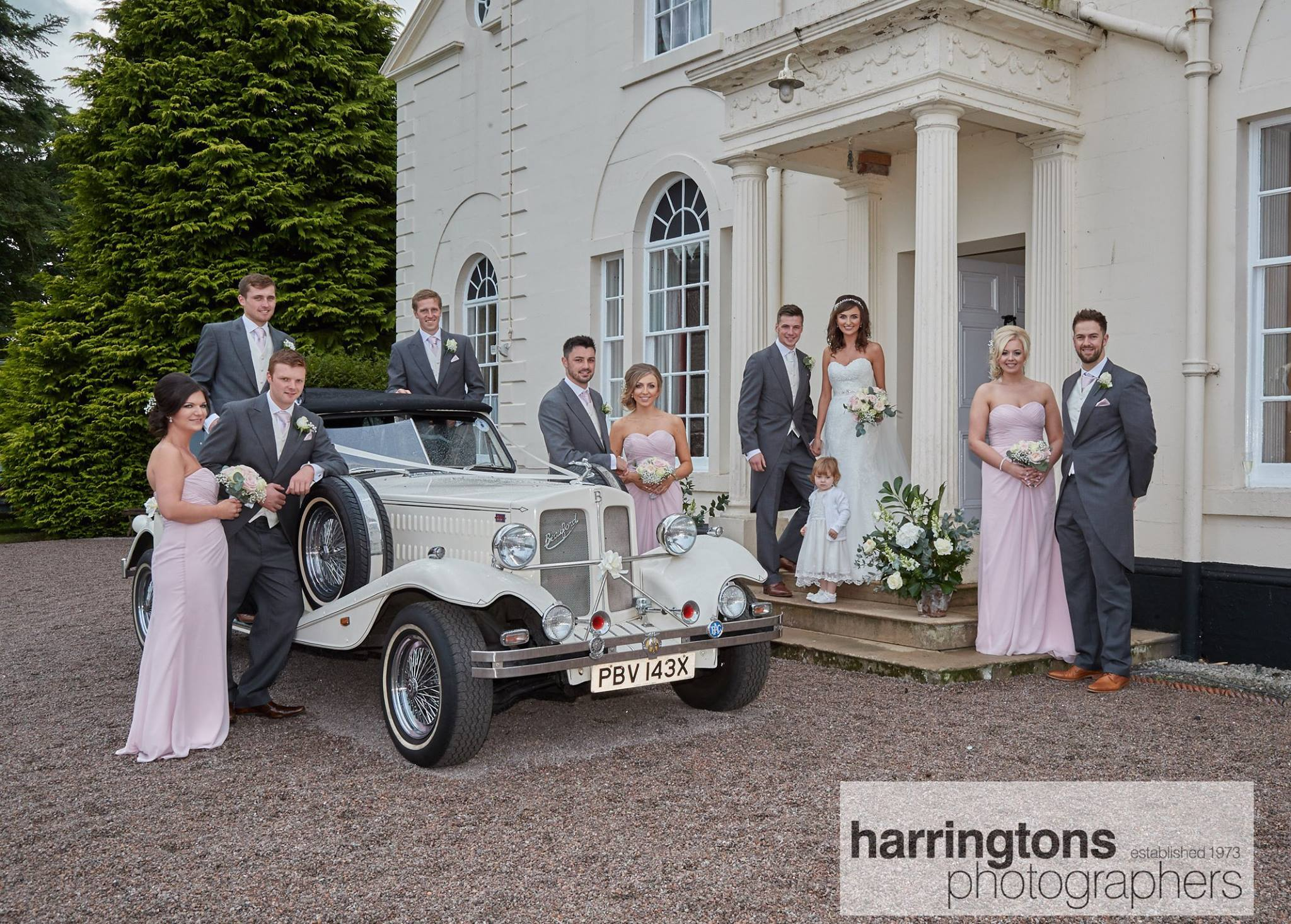 4 door long bodied Ivory Beauford (seats 3 passengers) Wedding Car Hire